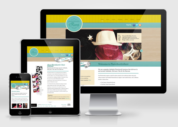 Website Layout with Mobile and Tablet