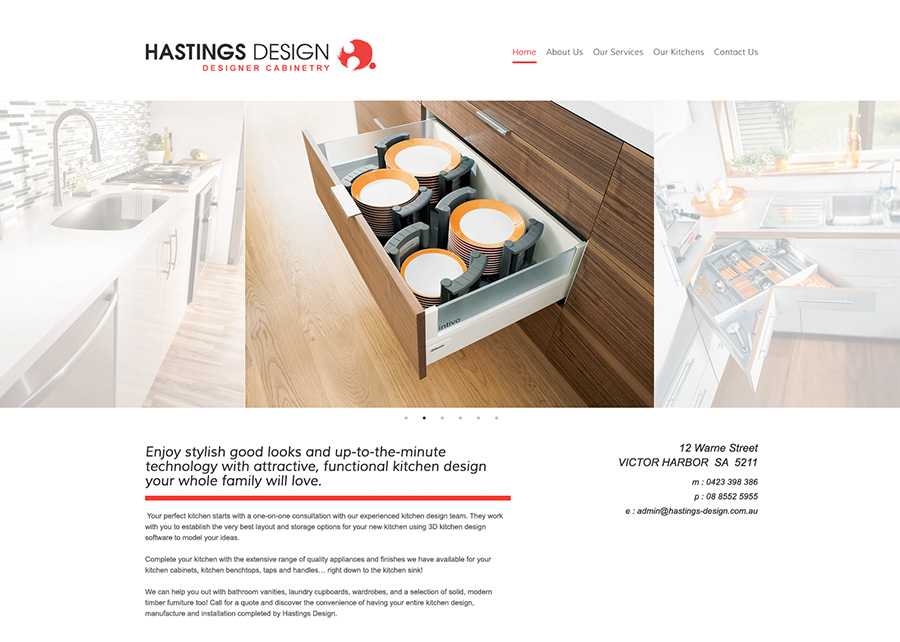 We Created This Super Slick Website That Showcases One Of The South Coastu0027s  Finest Custom Designed Kitchen Companies, Built With WordPress The Custom  Mobile ...